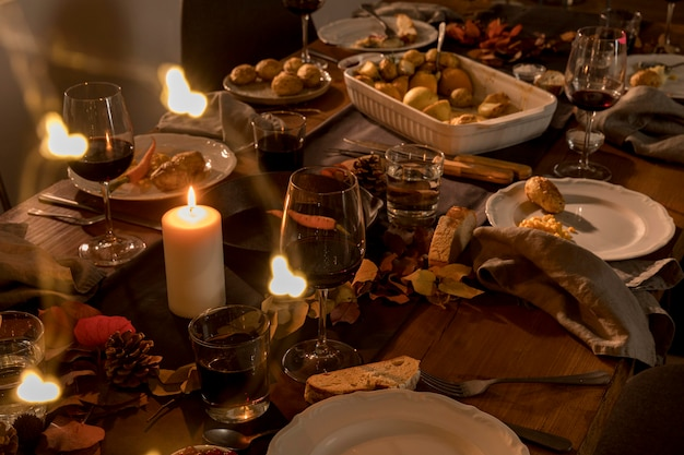 Красивая концепция еды благодарения