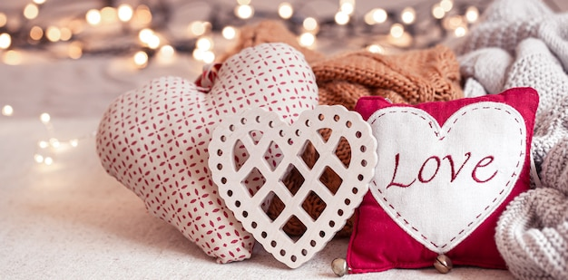Beautiful things for decoration for valentine's day.
