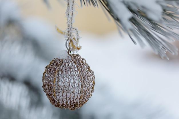 Красивый традиционный рождественский декор крупным планом