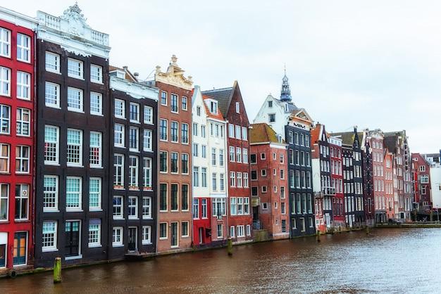 도시 암스테르담의 아름 다운 조용한 장면.