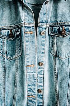 美しいトレンディなブルーデニムジーンズジャケット