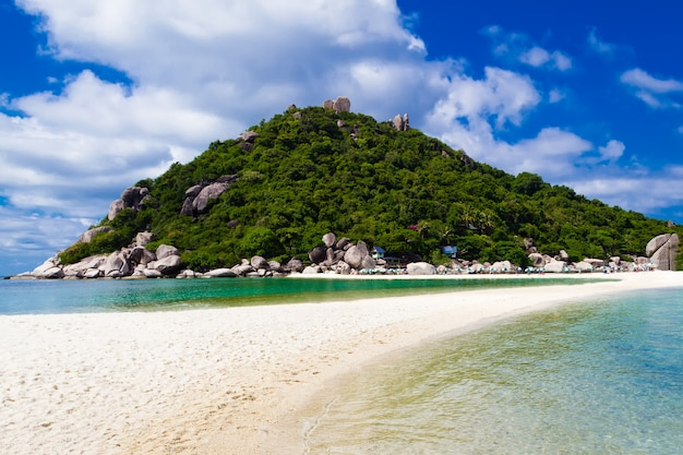 Beautiful tropical beach. koh phangan island, kingdom of thailand