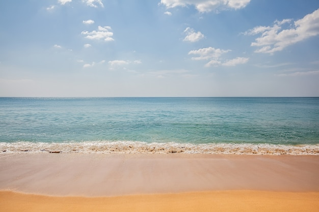 Beautiful tropical beach sand and sea