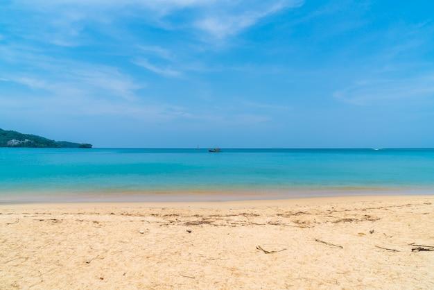 Beautiful tropical beach and sea in paradise island