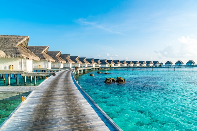 Beautiful tropical resort at the maldives islands