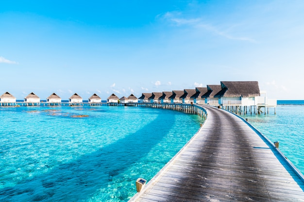 Beautiful tropical resort at maldives islands