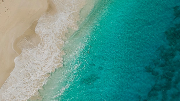 Beautiful tropical zoni beach loacted in culebra puerto rico. drone
