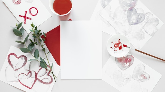 Beautiful valentine's day concept with copy space