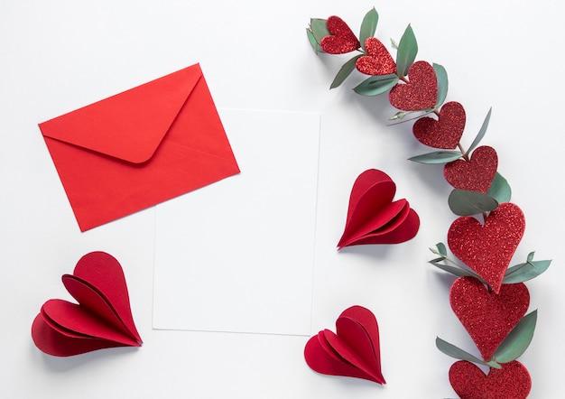 Красивая концепция дня святого валентина с копией пространства