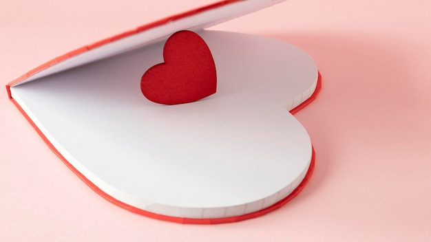 복사 공간 아름 다운 발렌타인 개념