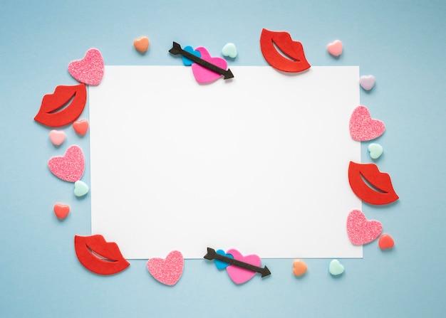 コピースペースと美しいバレンタインデーのコンセプト