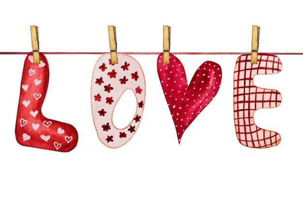 아름다운 발렌타인 데이 인사말 카드.