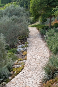Beautiful view of the bahai public gardens in haifa in israel