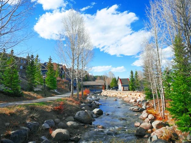 Beautiful view of breckenridge in colorado, usa