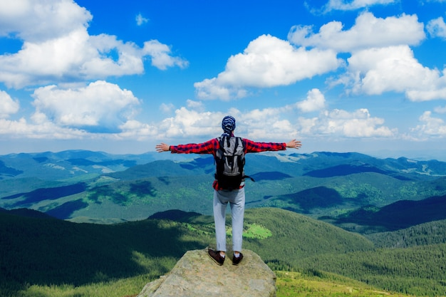 Beautiful view on carpathian mountains