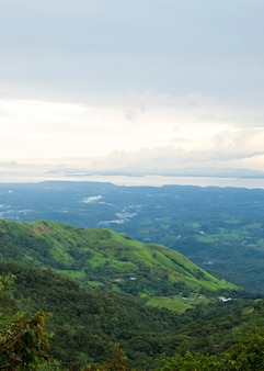 Beautiful view of costa rican rainforest from mountain top