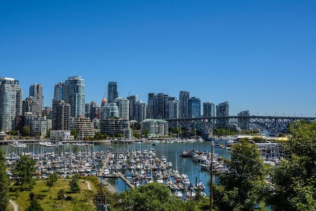 밴쿠버 시내의 아름다운 전망