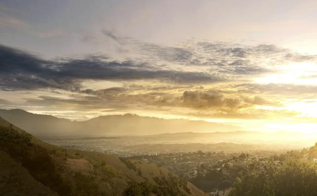 Beautiful view from mountain peak