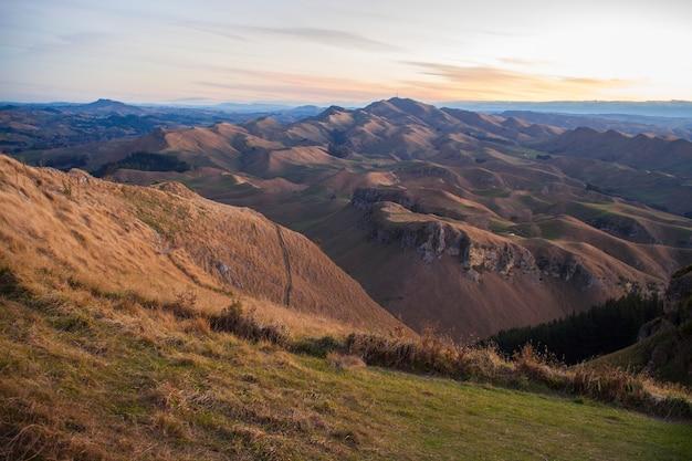 ニュージーランドのテマタピークからの美しい景色