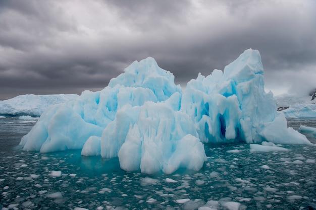 Beautiful view of the icebergs in antarctica