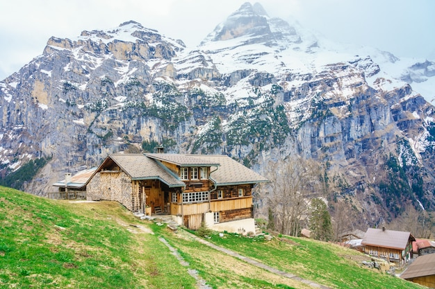 Beautiful view of landscape in the alps