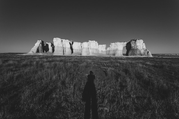 The beautiful view of monument rocks