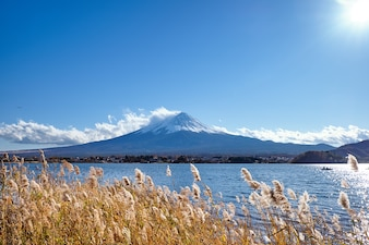 Beautiful view Mt.Fuji with snow capped