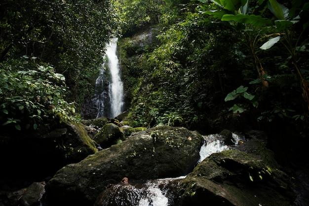 Красивый вид на водопад