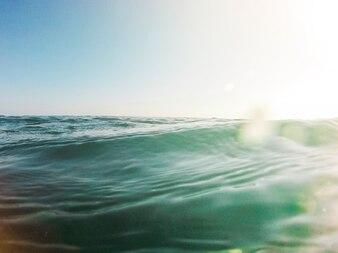 Beautiful view of blue ocean