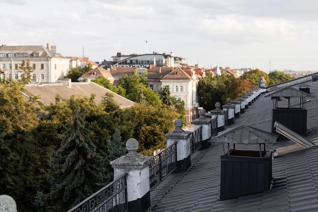 屋上からの街の美しい景色