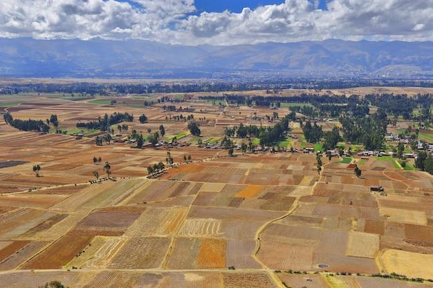 Ahuac地区の作物の美しい景色
