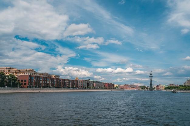 모스크바의 아름 다운보기 화창한 여름 날에 러시아에서 모스크바 강 파노라마보기