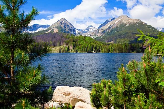 スロバキアの湖の美しい景色
