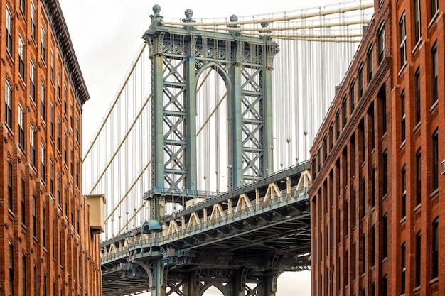 미국 뉴욕 맨해튼 다리의 아름다운 전망