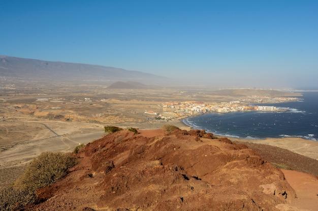 ロハ山の美しい景色。海の美しい景色。テネリフェ島、カナリア諸島、スペイン。