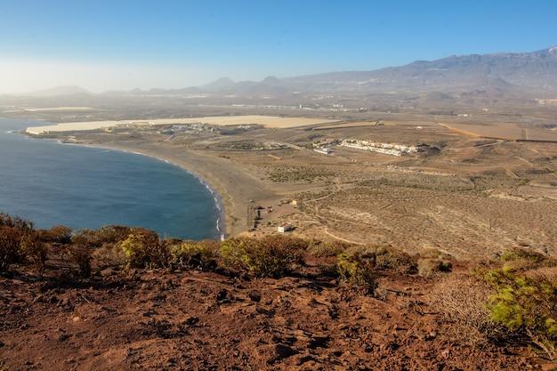 ロハ山の美しい景色。プラヤデラテジタの美しい景色。テネリフェ島、カナリア諸島、スペイン。