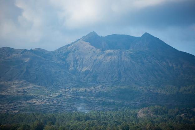 화산의 아름다운 전망.
