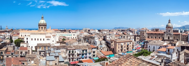 Beautiful view of palermo from san nicolo tower, sicily