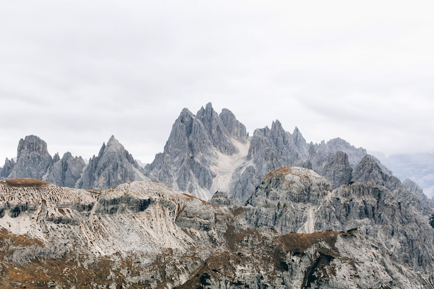 Beautiful view on rocky mountains in italy