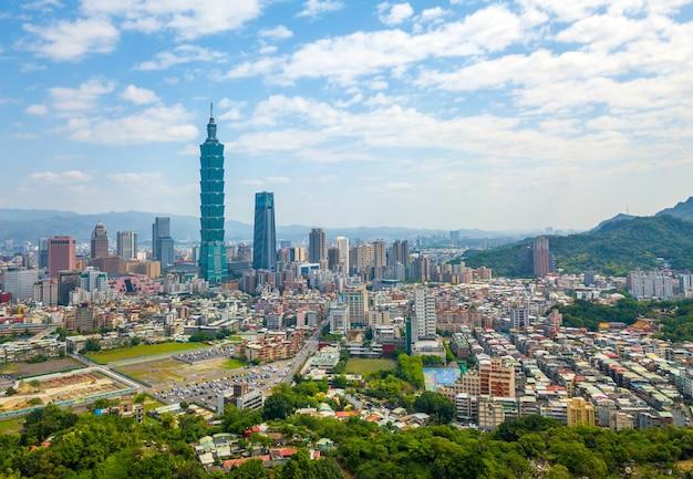 Beautiful view, scenic view of taipei city in taiwan.