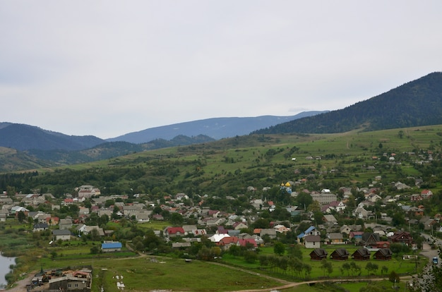 A beautiful view of the village of mezhgorye