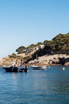 ボートで美しい景色