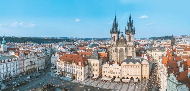 Beautiful views of the historic city of prague