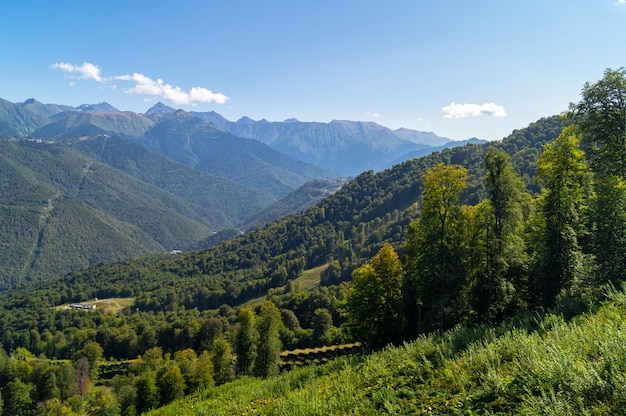 Beautiful views in krasnaya polyana
