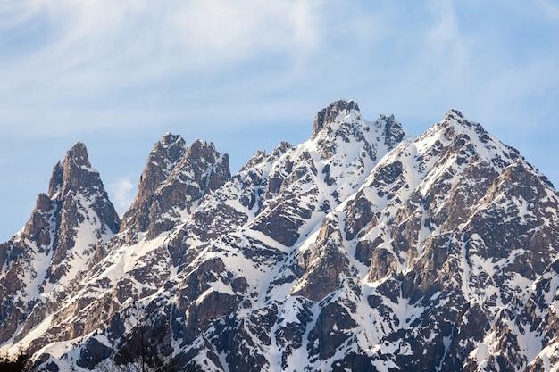 ジョージア州の高山地帯、スヴァネティ山脈の美しい景色