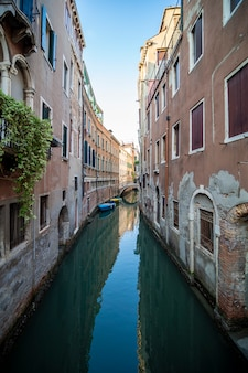 Beautiful views of the venice canal