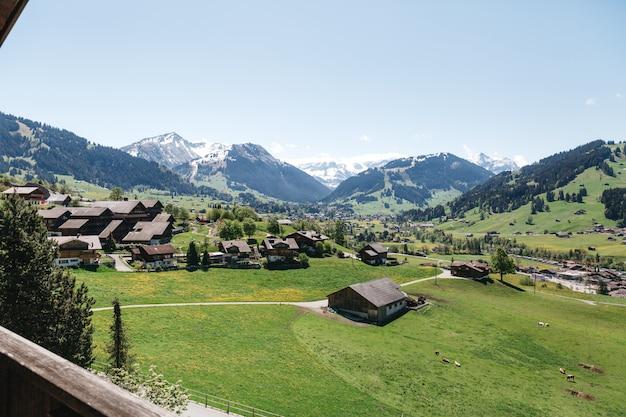 Красивая деревня в швейцарии