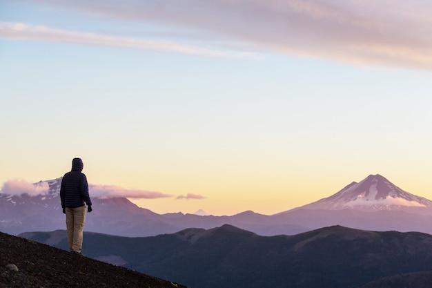 칠레, 남미의 아름다운 화산 풍경