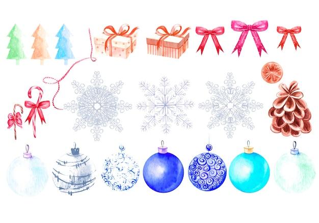 美しい水彩画のクリスマスカード