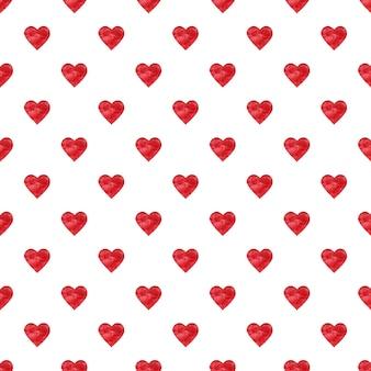 심장의 모양에 아름 다운 수채화 그리기.